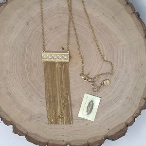 Mod Pearl Tassel Necklace